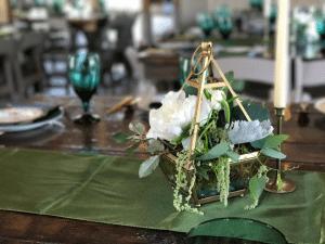 eucalyptus wedding centerpiece