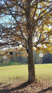 Tree decoration paper lanterns