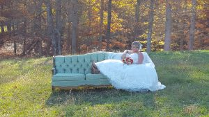 Elegant Rustic Wedding Venue Couch