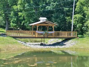 decorated bridge