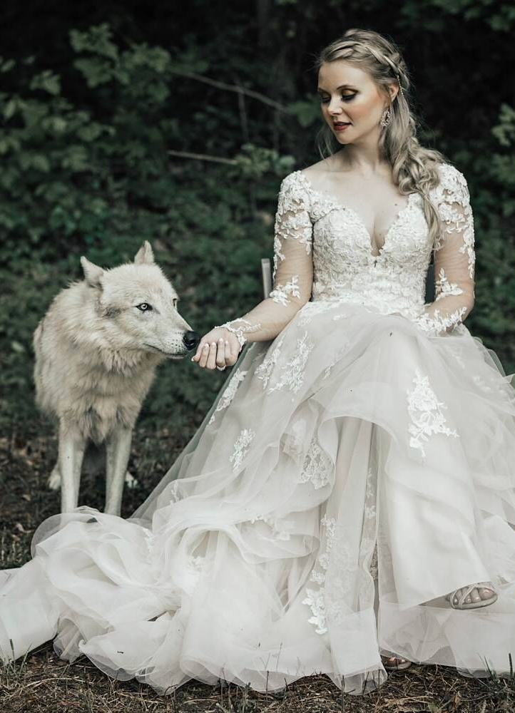 bride with wolf