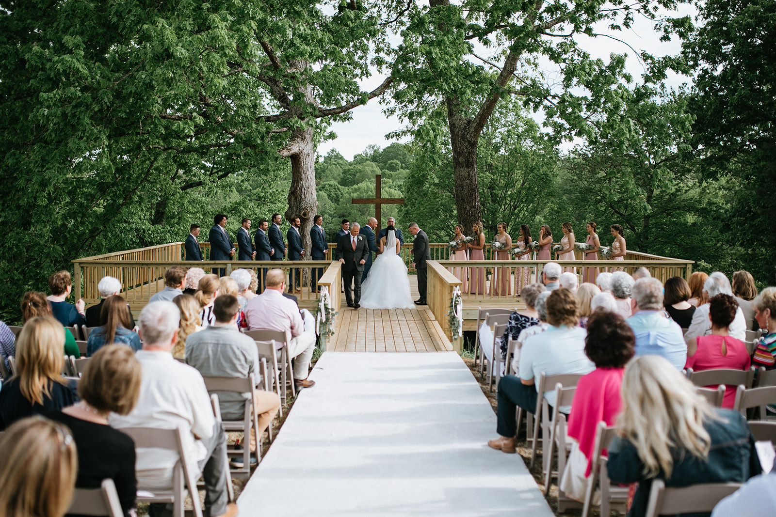 tree deck wedding 5