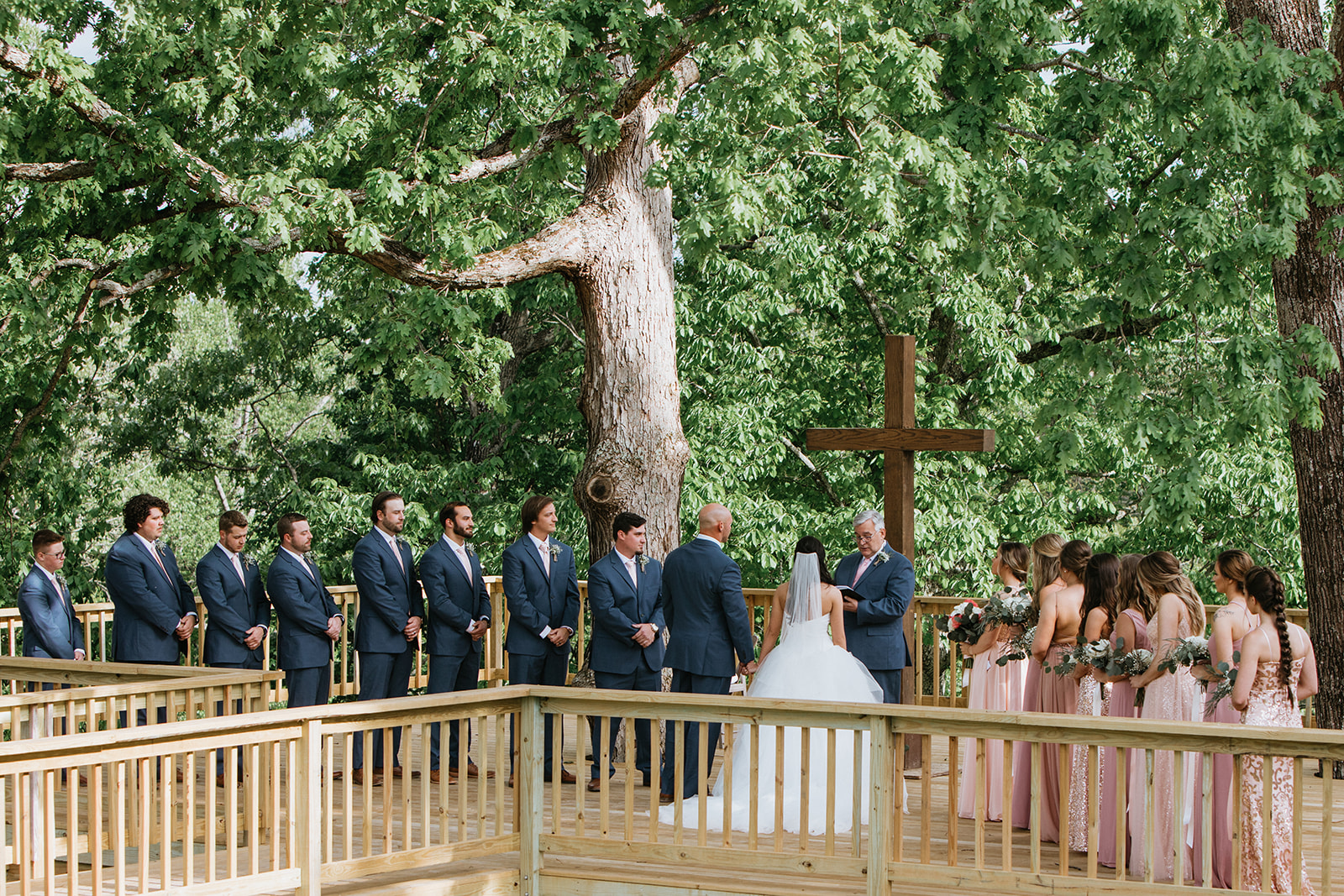 tree deck wedding 2
