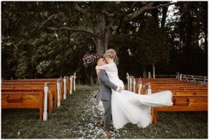 Newlyweds at Heartland Meadows