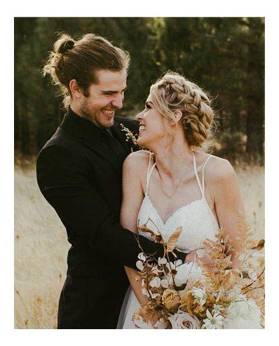 ecstatic newlyweds