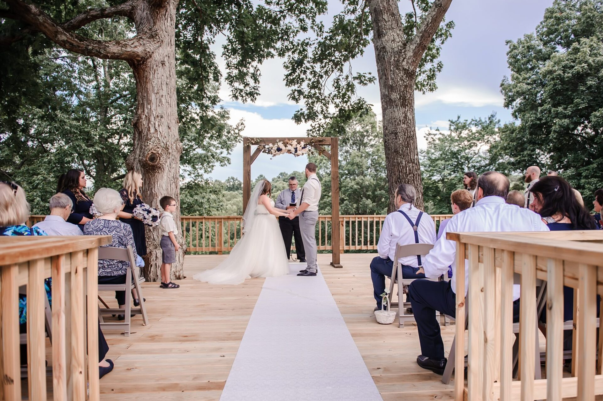 tree deck wedding 1